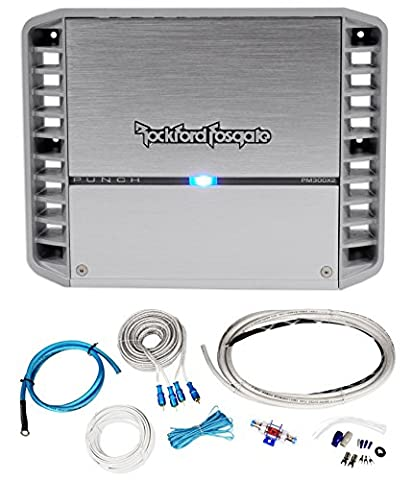 Rockford Fosgate PM300X2 300 Watt RMS 2 Channel Marine/Boat Amplifier+Amp Kit (Rockford Fosgate Amp 300 Watt)
