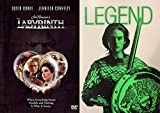 The Ultimate 80's Science Fiction Fantasy Super Pack: Legend (Special Limited Edition Glow In The Dark Slip Cover) & Labyrinth DVD Double Feature Film Bundle