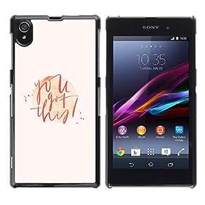 Be Good Phone Accessory // Dura Cáscara cubierta Protectora Caso Carcasa Funda de Protección para Sony Xperia Z1 L39 C6902 C6903 C6906 C6916 C6943 // Love Valentines Quote Handwritt