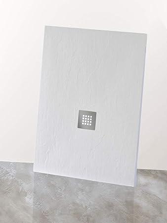 Yellowshop – Plato de ducha baño rectangular de mármol sintético ...