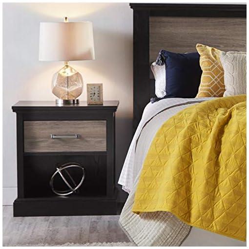 Bedroom Ameriwood Home Cresthaven Queen Headboard, Rustic Oak farmhouse nightstands