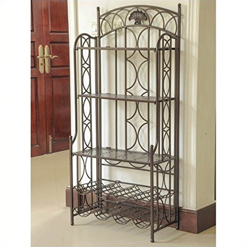 International Caravan Mandalay 5 Tier Bakers Rack in Matte Brown by International Caravan