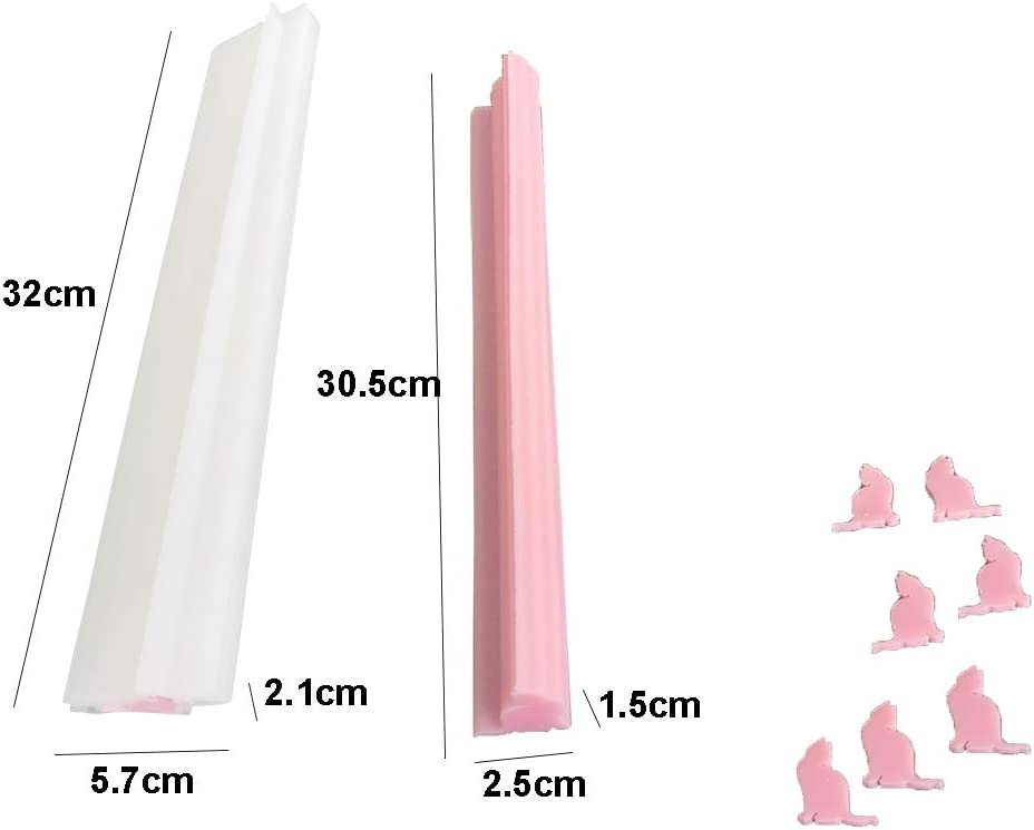 EchoDone Little Cat Tube Column Silicone Soap Candle Mold Embed Soap Making Supplies Silicone Mold for Soap