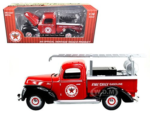 Beyond The Infinity 0608 1940 Ford Fire Truck Texaco Red 1/18 Diecast Model Car by Beyond Infinity