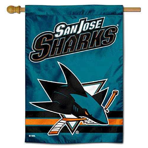 (WinCraft San Jose Sharks Double Sided Banner House Flag)