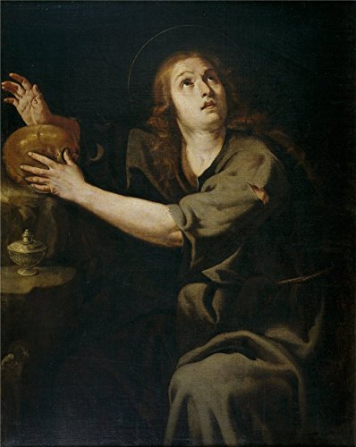 Polyster Canvas ,the Reproductions Art Decorative Prints On Canvas Of Oil Painting 'Espinosa Jeronimo Jacinto Maria Magdalena 1640 60 ', 18 X 23 Inch / 46 X 57 Cm Is Best For Powder Room Artwork And Home Artwork And Gifts