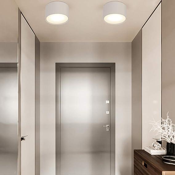Downlight LED Luces de techo Foco Lámparas de gabinete montadas en superficie Montaje en techo for dormitorio Baño Sala de estar Cocina Pasillo Decoración del pasillo Luz blanca cálida 3000K: Amazon.es: Iluminación
