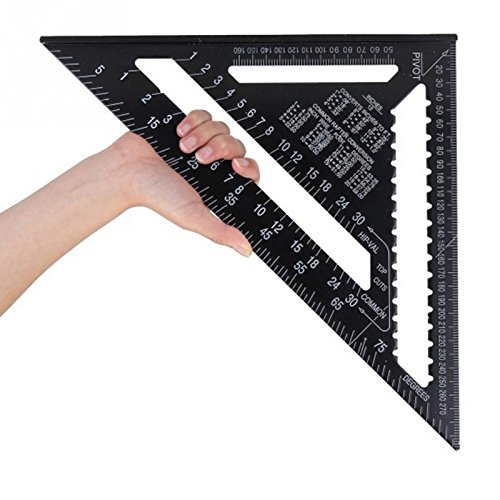 Gauges - 300mm Metric System Triangular Ruler Speed Square Protractor Double Scale Miter Framing Measurement -Angle Square Secret Aqara Rule Carpenter Powerbank Scale Miter Solar -