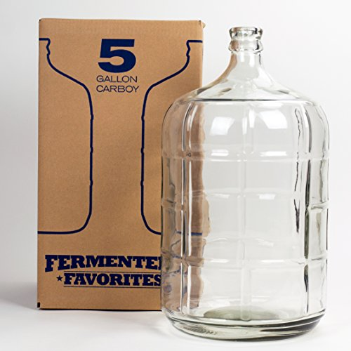 Fermenter's Favorites 5 Gallon Glass Carboy Fermenter for Home Brewing Beer, Wine Making, Hard Cider fermentation (Fermenter Beer)