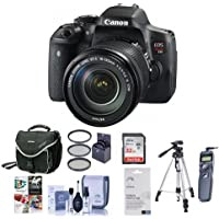 Canon EOS Rebel T6i DSLR Camera with EF-S 18-135mm f/3.5-5.6 IS STM Lens - Bundle w/ Camera Case, 64GB Class 10 SDHC Card, 67mm Filter Kit, Cleaning Kit, Tripod, Remote Shutter, Software Kit and More