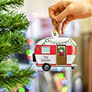 Christmas Tree Wooden Pendant 2021 Family Ornaments, Family Personalized Gifts Xmas Fire Truck, Off-Road Vehic