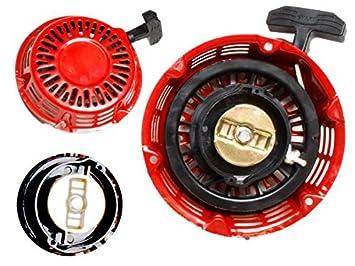 Cuerda de arranque para motores de gasolina de 5,5 y 6,5 caballos de fuerza y generadores de corriente