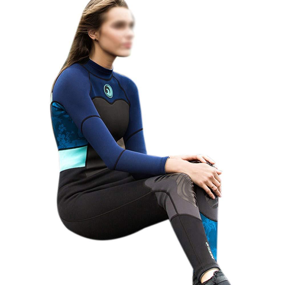 プレミアムアンチUVウェットスーツ、フルレングスの水着、レディースダイビングスーツ、ネオプレンサーフィンスーツ、膝保護および低抵抗,XS B07PBV84SS XL  XL