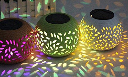 Vista Collection Ny Ceramic Solar Table Light Lamp Decor