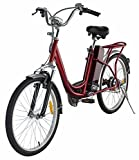 Classic Bicycle Electric Bike Red 250W 24V