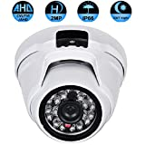 Cheap Security Dome Camera,2.0MP 4 in 1 (AHD/TVI/CVI/CVBS) IR Night Vision 1080P Surveillance Analog Camera 3.6mm Lens ICR auto Day Night Wide Angle Outdoor/Indoor IP66 Weatherproof