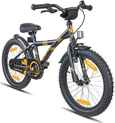 Prometheus Bicicleta Infantil niño y niña | 18 Pulgadas | Negro ...