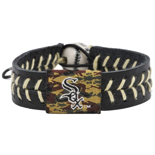 Chicago White Sox Bracelets - MLB Chicago White Sox Camouflage Baseball Bracelet