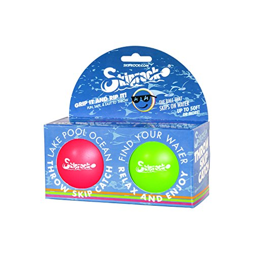 Skiprock Ball (Pack of 2), Green/Pink