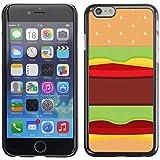 SKCASE Center / Slim Snap On Hard Case Cover - Food Pop Art Junk Brown - iPhone 6