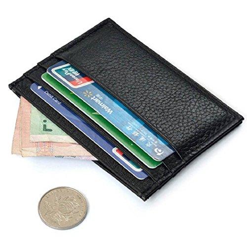 Nero nero Mini Portafoglio Borsetta Porta Caso Borsa Carte Di Id Credito Sottile Malloom® 74qZBRP
