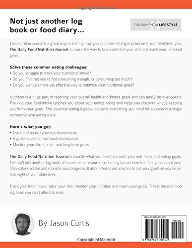 the daily food nutrition journal a log book food diary to track
