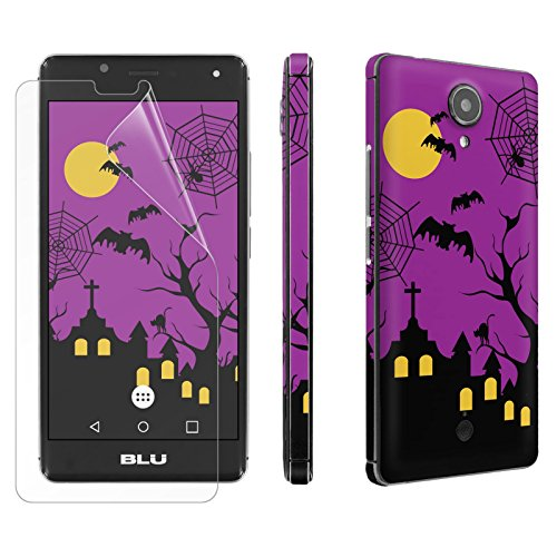[BLU R1 HD] Phone Skin - [SkinGuardz] Rear Body Scratch Proof Vinyl Decal Sticker with [WallPaper] [Screen Protector] - [Halloween] for [BLU R1 -