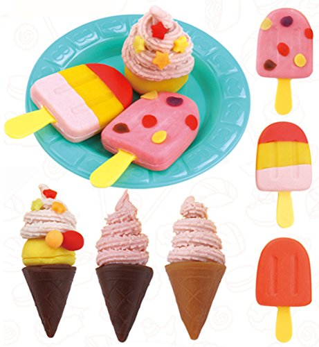 Diy Ice Cream Truck Costume (Chickwin Color Clay Suit 3D Rubber Mud Creative Mud Safe Non - Toxic Parent - Child Toys, Children's Environmental Toys Gift Puzzle. (Ice cream style))