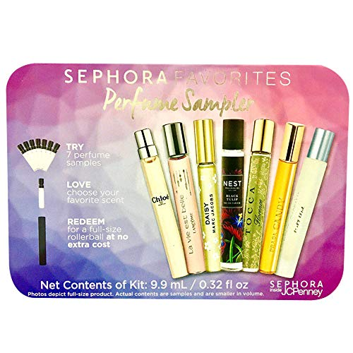 Sephora Favorites Perfume Travel Sampler exclusive limited edition 0.32 fl oz (Redeemable Certificate for Full-size Rollerbal at Sephora inside JCPennyl)