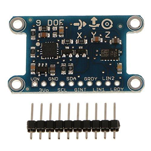 KESOTO 9axis 9DOF IMUセンサーブレイクアウトボードジャイロスコープコンパス