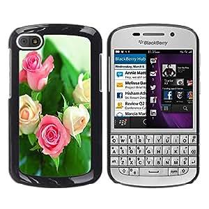- Rose Red Pink Flower - - Monedero pared Design Premium cuero del tir¨®n magn¨¦tico delgado del caso de la cubierta pata de ca FOR BlackBerry Q10 Funny House