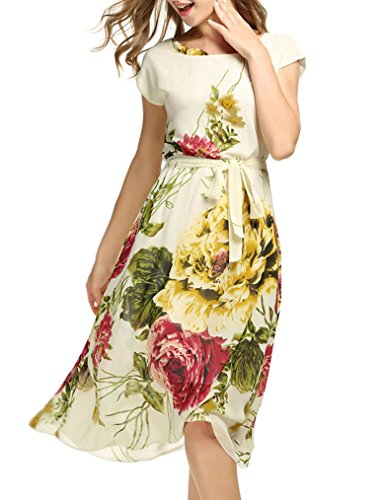 Buy below the knee summer dresses with sleeves - 2