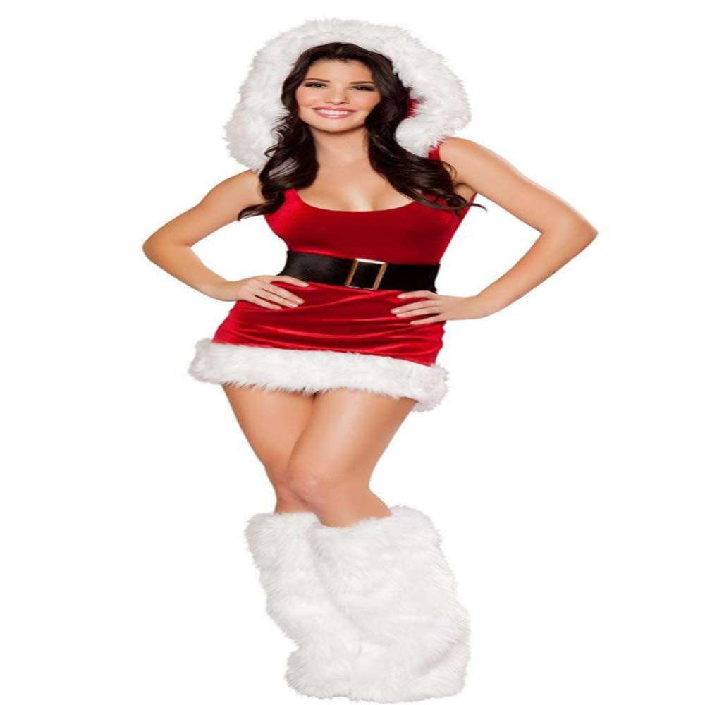 CVCCV Mini Weihnachten Kleid Sexy Sänger Bühnen Performance Uniform Nachtclub Bar COS Kleidung Polyester Stoff Für Frauen