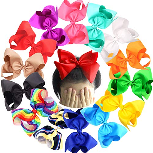 Boutique Big 8 Inches Bows For Girls 8