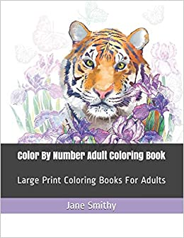 Color By Number Adult Coloring Book: Large Print Coloring ...