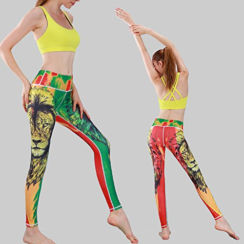 JIALELE Yogahose Fitness Jogging Hose_Stamp Yoga Hosen Fitness Im Freien Tanz 9 Hose Mädchen Yu Bibliothek