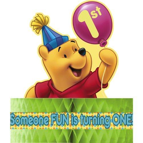 Winnie the Pooh Balloon 1st Birthday Centerpiece (1ct)