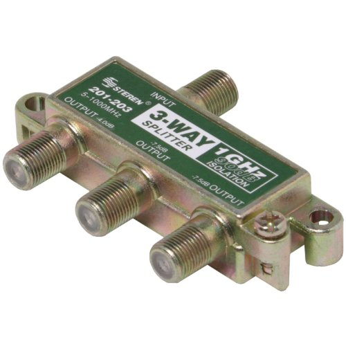 Steren Signal Splitter - Steren 201-203 1GHz 90dB 3-Way Splitter