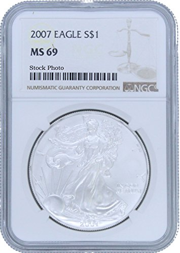 2007 American Silver Eagle $1 MS69 NGC