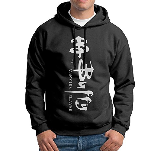 [YLS Men American Television Series Vampire Slayer Hip Hop Fashion Hoodie Sweater Size M Black] (Buffy The Vampire Slayer Movie Costume)