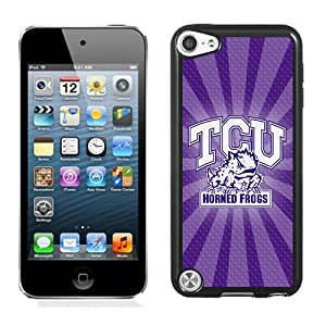 Popular And Durable Designed Case With NCAA Big 12 Conference Big12 Football TCU Horned Frogs 9 Protective Cell Phone Hardshell Cover Case For iPod Touch 5 Phone Case Black