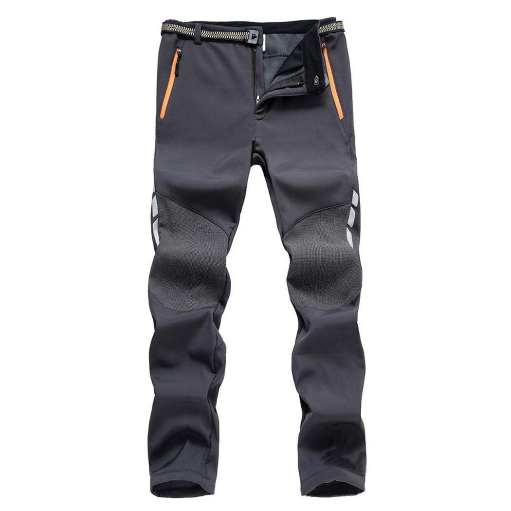 fnemo Hombres Pantalones Deportivos al Aire Libre Impermeable Patchwork Impermeable Ropa Deportiva Pantalones Largos Pantalones Deportivos