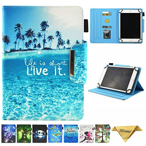 JZCreater 7.5-8.5 Inch Tablet Universal Case, Stand Wallet Case for iPad Mini 1/2/3/4 /Samsung Galaxy Tab 8.0 Series/F ire HD 8 2016 2017 2018 and More 7.5