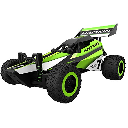 Tiny RC Car, HAOXIN RC Car fast for kids 2.4Ghz 2WD 1:32 full Scales Racing Car Obstacle Game for boy best gifts for boy to practice concentration and balance (Green)