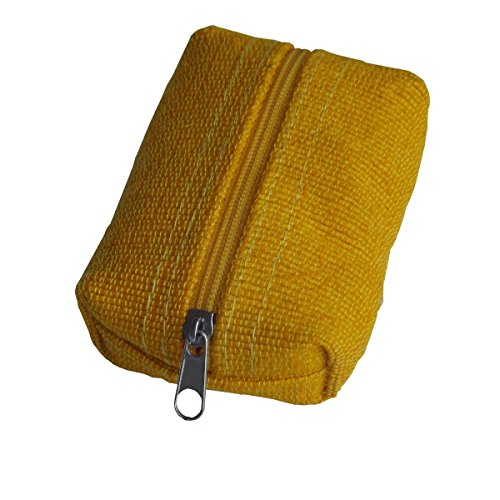 Green Breeze Imports Yellow Handmade Abaca Pillow-Style Coin Purse (2 pack)