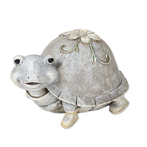 (Roman Cute Turtle in Rain Boots 5 x 8.5 Inch Resin Stone Garden Statue Figurine )
