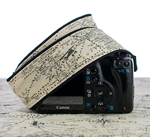 Camera Strap, Map 255, Extra Long, Airplane, Fits dSLR, SLR or Mirrorless Cameras