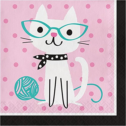 Purr-fect Cat Party Supplies Kit - Tableware for 16 Guests - Plates Napkins  sc 1 st  One Fitness \u0026 Yoga   Dawson Creek BC & Purr-fect Cat Party Supplies Kit - Tableware for 16 Guests - Plates ...