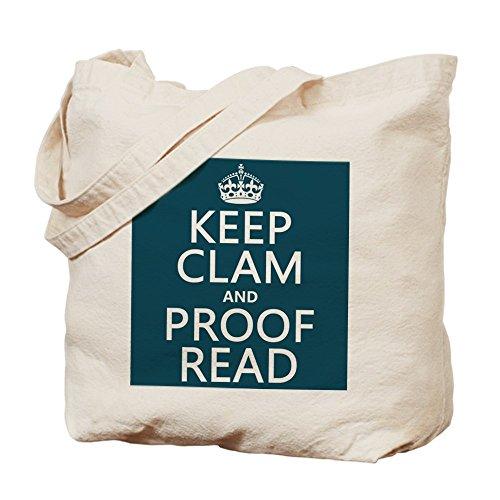 CafePress diseño de Keep Calm y prueba de leer (Clam)–Gamuza de bolsa de lona bolsa, bolsa de la compra