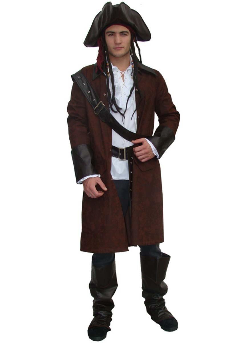 M Medium Costume Accessorio Camicia Da Pirata Da Uomo-Nero